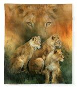 Sisterhood Of The Lions Fleece Blanket