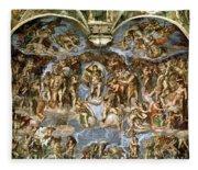 Sistine Chapel The Last Judgement, 1538-41 Fresco Pre-restoration Fleece Blanket