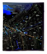 Sites And Subways Fleece Blanket