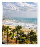 Sitges Spain On The Mediterranean Coast Fleece Blanket