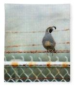 Sittin' On The Fence Fleece Blanket