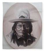Sitting Bull Fleece Blanket