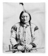 Sitting Bull Fleece Blanket by War Is Hell Store