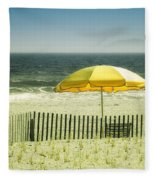 Sitting By The Shore Fleece Blanket