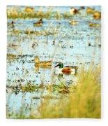 Sitting Ducks Fleece Blanket
