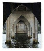 Siuslaw River Bridge Florence Oregon Fleece Blanket
