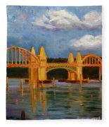 Siuslaw River Bridge Fleece Blanket