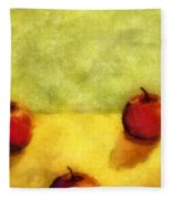 Six Apples Fleece Blanket