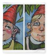 Six Gnomes Horizontal Fleece Blanket