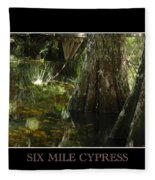 Six Mile Cypress Fort Myers Florida Fleece Blanket