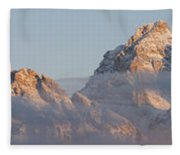 Six Peaks Of The Teton Mountain Range Fleece Blanket