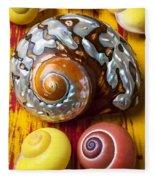 Six Snails Shells Fleece Blanket