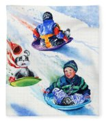 Sizzling Saucers Fleece Blanket