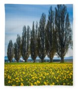 Skagit Trees Fleece Blanket