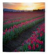 Skagit Valley Blazing Sunrise Fleece Blanket