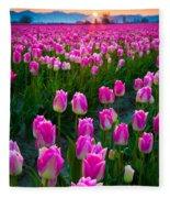 Skagit Valley Dawn Fleece Blanket