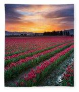 Skagit Valley Predawn Fleece Blanket