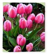 Skagit Valley Tulips 9 Fleece Blanket