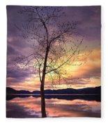 Skaha Lake On A Saturday Morning Fleece Blanket