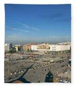 Skanderberg Square In Tirana Albania Fleece Blanket