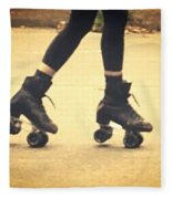 Skates In Motion Fleece Blanket