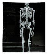 Skeleton New York City Fleece Blanket