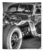 Skeleton Of A Classic Car Fleece Blanket