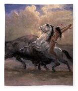 Sketch For The Last Of The Buffalo Fleece Blanket