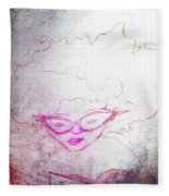 Sketch Of A Girl Reading Adventure Fleece Blanket