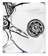 Sketch Of The Hard Disk Fleece Blanket