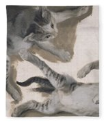 Sketches Of A Kitten Fleece Blanket