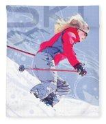 Ski 1 Fleece Blanket