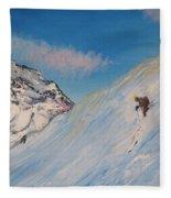 Ski Alaska Heli Ski Fleece Blanket