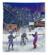 Ski Area Campton Mountain Fleece Blanket