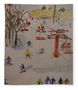 Ski Area Fleece Blanket