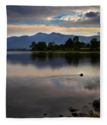 Skiddaw And Derwent Water At Dawn Fleece Blanket