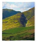 Skiddaw In The Lake District Fleece Blanket