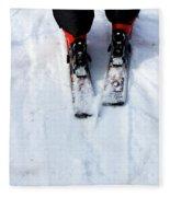 Skier Fleece Blanket