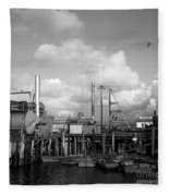 Skiffs At  Montereys Fisherman's Wharf California Circa 1945 Fleece Blanket