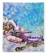 Skiing 06 Fleece Blanket