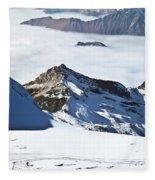 Skiing Down A Storm Fleece Blanket