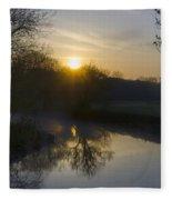 Skippack Creek Sunrise Fleece Blanket
