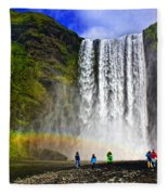 Skogarfoss Fleece Blanket