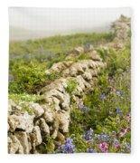 Skomer Wildflowers Fleece Blanket