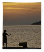 Skopelos Sunset - Fisher Boy - 1 Fleece Blanket