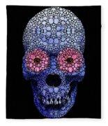 Skull Art - Day Of The Dead 1 Stone Rock'd Fleece Blanket