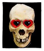 Skull Art - Day Of The Dead 2 Fleece Blanket