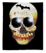 Skull Art In A Surrealism Definition Fleece Blanket