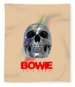 Skull Bowie  Fleece Blanket