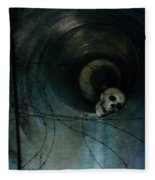 Skull In Drainpipe Fleece Blanket